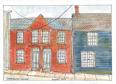 Painting - Portsmouth Village by David Dossett