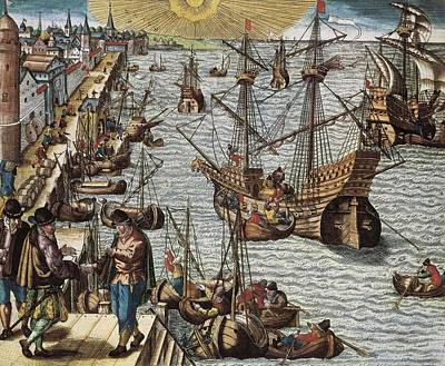 Colonial Man Photograph - Portugal 16th C.. Departure by Everett