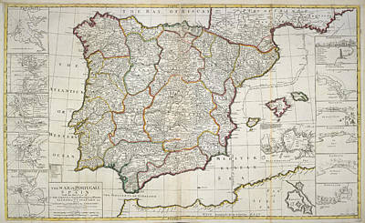 Cartography Photograph - Portugal And Spain by British Library