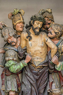 Jesus Photograph - Portugal, Guimaraes, Detail Of Stations by Jim Engelbrecht