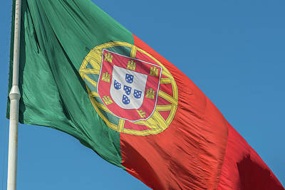 Flagpole Photograph - Portugal, Lisbon, Edward Vii Park by Jim Engelbrecht