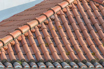 Portugal, Lisbon, Red Tile Roof Print by Jim Engelbrecht