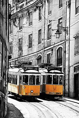 Streetcar Photograph - Portugal, Lisbon by Terry Eggers