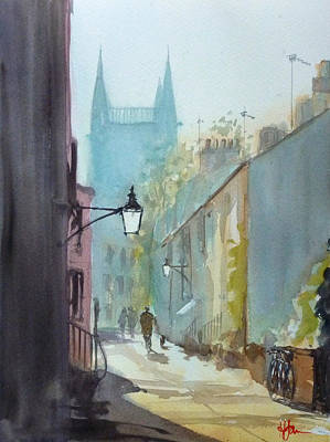 Cambridge University Painting - Portugal Place by Henry Jones
