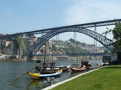 Ben Weinberg Photograph - Portugal Porto - Bridge Over Douro River 2 by Benjamin Weinberg