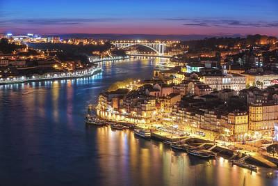 Portugal Photograph - Portugal - Porto Skyline by Jean Claude Castor