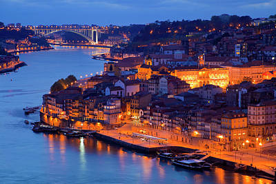 Harbor Bridge Wall Art - Photograph - Portugal, Porto View Of City And Harbor by Jaynes Gallery