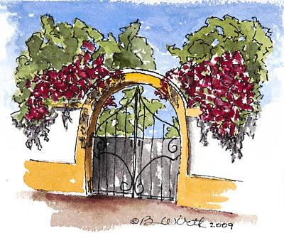 Portuguese Gate Art Print
