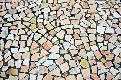 Closed Road Photograph - Portuguese Pavement by Carlos Caetano