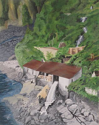 Portuguese Sawmill Art Print by Hilda and Jose Garrancho