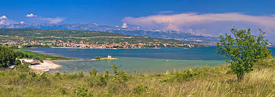 Photograph - Posedarje Bay And Velebit Mountain Panoramic View by Brch Photography