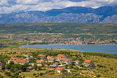 Photograph - Posedarje Bay And Velebit Mountain View by Brch Photography