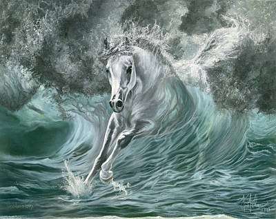 Wall Art - Painting - Poseidon's Gift by Kim McElroy