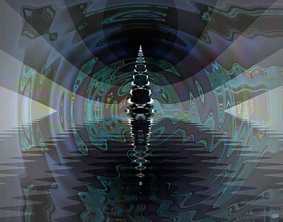 Poseidon Abstract Digital Art - Poseidon's Hall by Nafets Nuarb