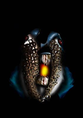 Cuttlefish Digital Art - Poseidons Warriors Xviii by Dray Van Beeck