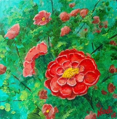 Painting - Posie In Red by Renate Nadi Wesley