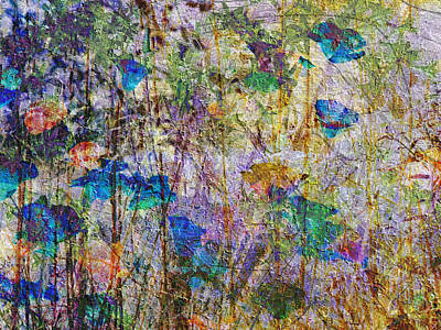 Mixed Media - Posies In The Grass by Kiki Art