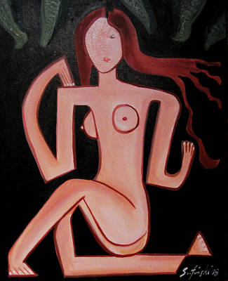 Posing Nude Original by Karen Serfinski