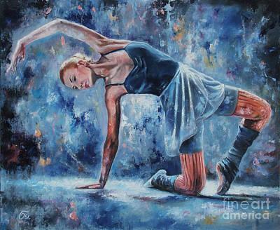 Dancefloor Painting - Posing by Osi