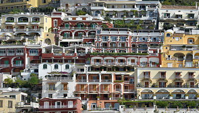 Photograph - Positano Archtecture by Joe Bonita
