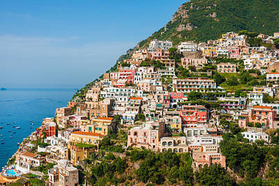 Positano City Art Print