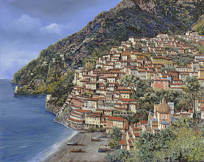 Coast Painting - Positano E La Torre Clavel by Guido Borelli