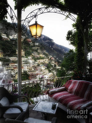 Positano Evening Art Print by George Oze