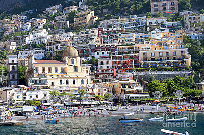 Photograph - Positano From The Sea by Brenda Kean