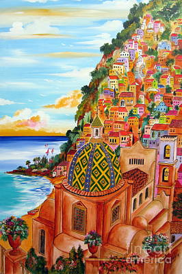Positano In My Fantasy Art Print