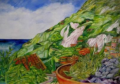 Positano Terrace Art Print