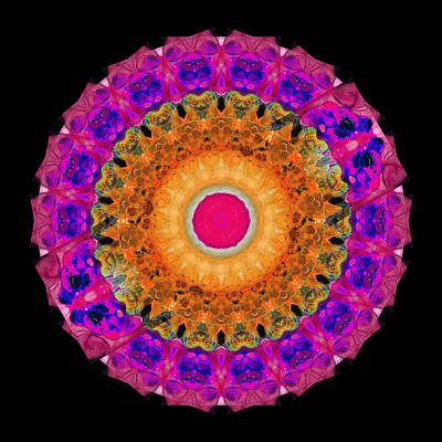 Kaleidoscope Painting - Positive Energy 1 - Mandala Art By Sharon Cummings by Sharon Cummings
