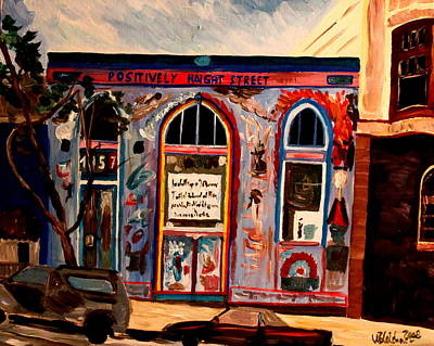 Haight Ashbury Painting - Positively Haight Street by M Bleichner