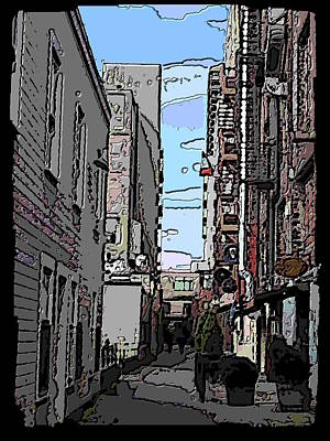 Farmers Market Digital Art - Post Alley 6 by Tim Allen