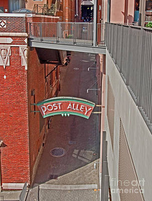 Photograph - Post Alley In Downtown Seattle Wa Art Prints by Valerie Garner