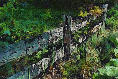 Digital Art - Post And Rail Garden Fence 2 by Fran Woods