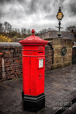 Signed Digital Art - Post Box by Adrian Evans