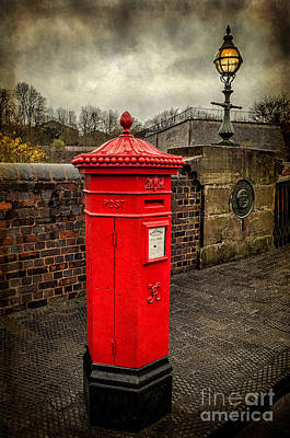Street Lamps Digital Art - Post Box V2 by Adrian Evans