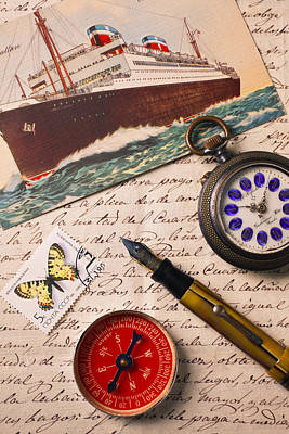 Post Card And Letter Art Print by Garry Gay