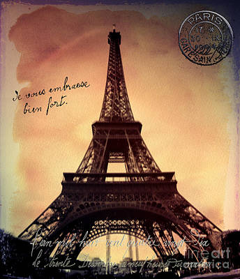 Photograph - Post Card From Paris by Karen Lewis