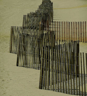 Post Hurricane Sandy Fencing Art Print