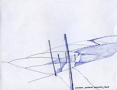 Drawing - Post Line by Michael Anthony Edwards