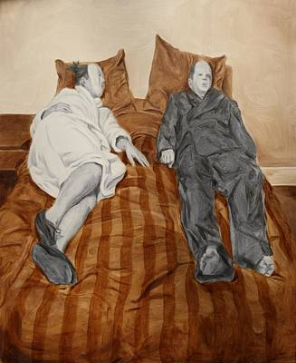 Philosophical Painting - Post Modern Intimacy II by Alison Schmidt Carson
