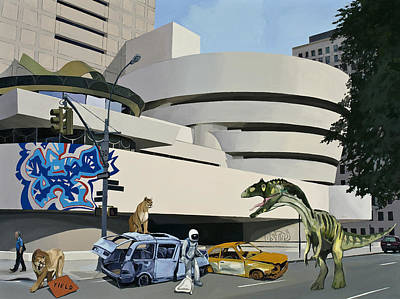 Pop Art Wall Art - Painting - Post Nuclear Guggenheim Visit by Scott Listfield