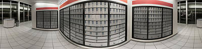 Repetition Photograph - Post Office Boxes In Lobby, Federal by Panoramic Images