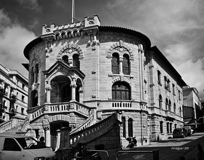 Photograph - Post Office In Monaco by Allen Sheffield