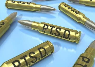 Ptsd Photograph - Post-traumatic Stress Disorder, Concept by Science Photo Library
