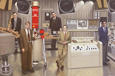 Wall Art - Painting - Post Wwii Inventors by Terry Guyer