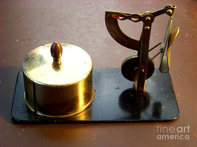 Postage Scales Photograph - Postage Scale And Dispenser by Charles Robinson