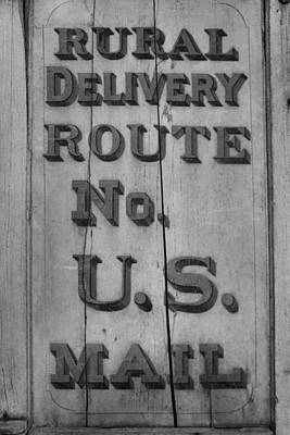 Us Mail Photograph - Postal Service by Dan Sproul