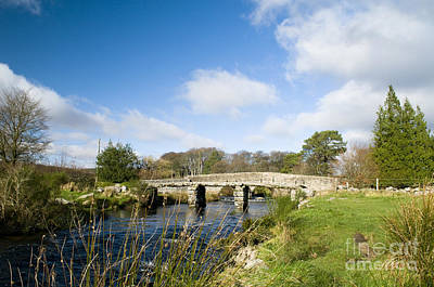 Postbridge Clapper Bridge Art Print by Anne Gilbert